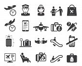 image of leaving  - Airport icons set - JPG