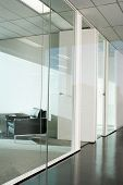 foto of partition  - Office interior with glass partition - JPG