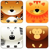 Wild Animals - Icon Set 2 poster