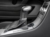 foto of gear-shifter  - automatic gear shift in luxury car - JPG