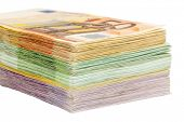picture of precaution  - many different euro bills - JPG
