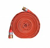 stock photo of firefighter  - firefighter hose isolated on the white background - JPG