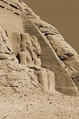 pic of nubian  - The Abu Simbel temples are two massive rock temples in Abu Simbel in Nubia - JPG