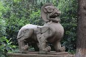 stock photo of chinese unicorn  - This is a set of photographs taken in Nanjing - JPG
