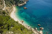 image of costa blanca  - Secluded Mediterranean beach around Cabo de la Nao Costa Blanca Spain - JPG
