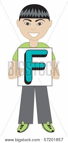 Letter F Boy