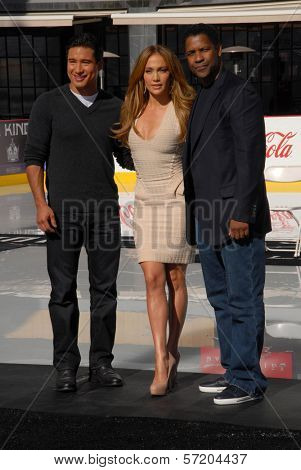Mario Lopez, Jennifer Lopez and Denzel Washington at a Boys And Girls Clubs Of America Announcement With Denzel Washington And Jennifer Lopez, Nokia Theatre L.A. Live, Los Angeles, CA. 11-30-10