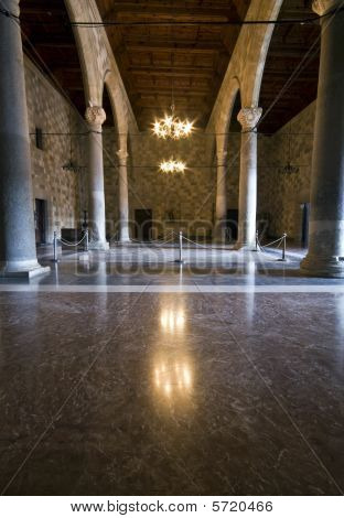 Palace of the Knights at Rhodes island, Greece