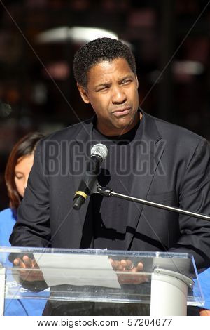 Denzel Washington at a Boys And Girls Clubs Of America Announcement With Denzel Washington And Jennifer Lopez, Nokia Theatre L.A. Live, Los Angeles, CA. 11-30-10
