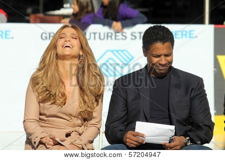 Jennifer Lopez and Denzel Washington  at a Boys And Girls Clubs Of America Announcement With Denzel Washington And Jennifer Lopez, Nokia Theatre L.A. Live, Los Angeles, CA. 11-30-10
