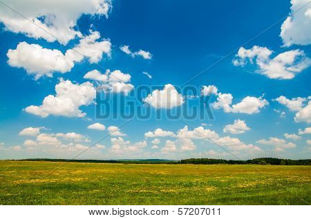 Sky Over The Field