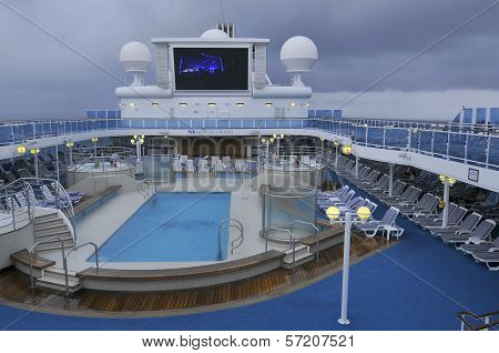 Upper deck of Princess cruise ship