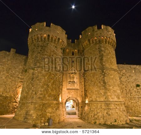 Templar knights castle at Rhodes island, Greece