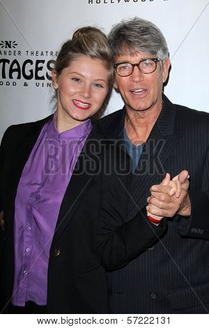 Eric Roberts and daughter at the