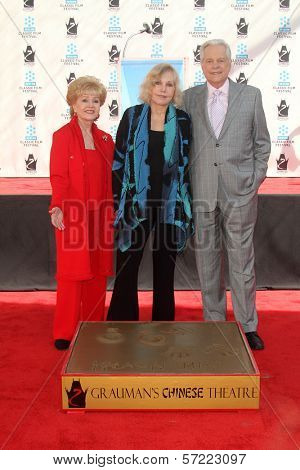 Debbie Reynolds, Kim Novak, Robert Osborne at the Kim Novak Hand and Foot Print Ceremony to coincide with the TCM Film Fest, Chinese Theater, Hollywood, CA 04-14-12