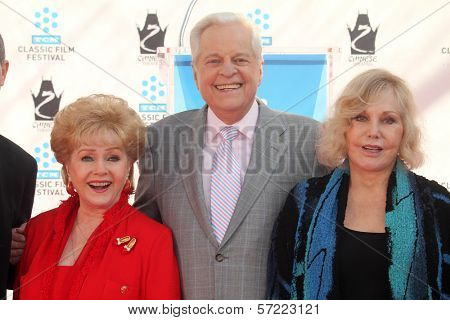 Debbie Reynolds, Robert Osborne, Kim Novak at the Kim Novak Hand and Foot Print Ceremony to coincide with the TCM Film Fest, Chinese Theater, Hollywood, CA 04-14-12