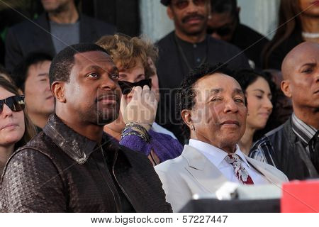 Chris Tucker, Smokey Robinson at Michael Jackson Immortalized at Grauman's Chinese Theatre, Hollywood, CA 01-26-12