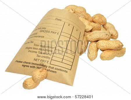 Wage Packet And Peanuts
