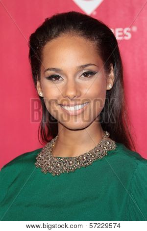 Alicia Keys at the 2012 MusiCares Person Of The Year honoring Paul McCartney, Los Angeles Convention Center, Los Angeles, CA 02-10-12