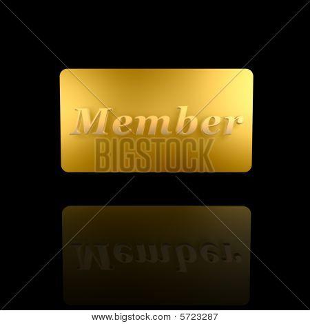 Golden Member Card