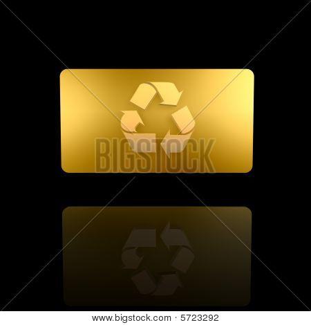 Tarjeta de oro reciclar