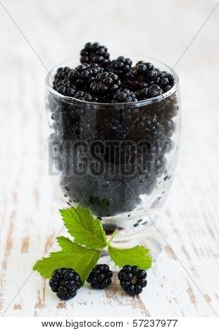 Glass Of Blackberries
