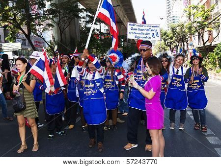 Political Protests In Bangkok, Thailand.