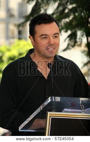 Seth MacFarlane  at the induction ceremony for Bill Maher into the Hollywood Walk of Fame, Hollywood, CA. 09-14-10