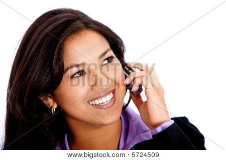 Mulher de negócios ao telefone