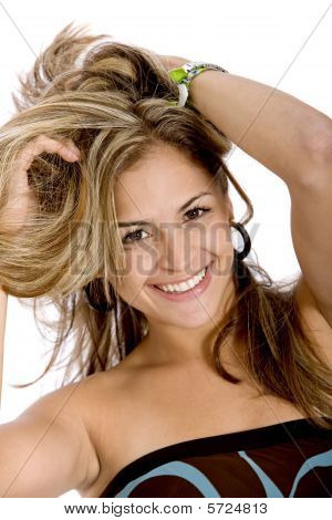 Woman Playing With Hair