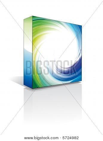 3D Software Box with high contrast colors
