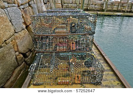 Lobster Traps in the Harbor