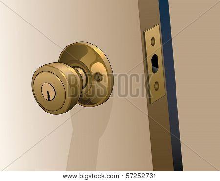 Door Knob On Door