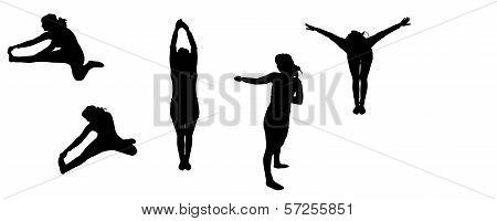 vector silhouette sport
