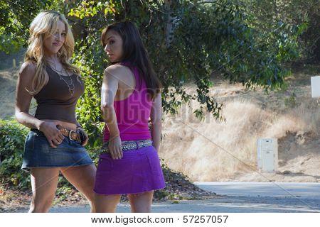 Jennifer Blanc and Danielle Harris On the Set of