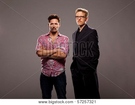 Denny Kirkwood and Ryan Honey On the Set of