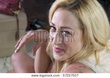Jennifer Blanc On the Set of