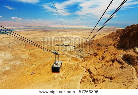 Cable Car In Fortress Masada