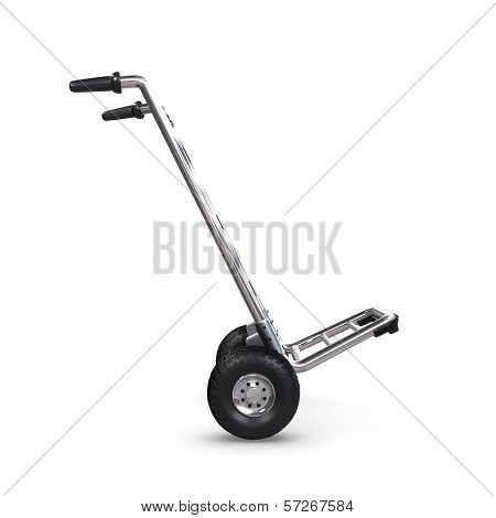 Hand Truck Tilted And Empty Profile