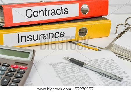 Folders with the label Contracts and Insurance