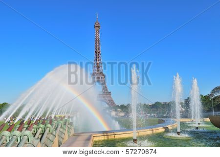 Paris. Fountains At Trocadero Square