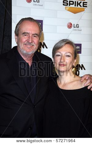 Wes Craven and Iya Labunka at Spike TV's