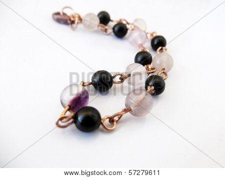 Elegant Purple Fluorite Bracelet