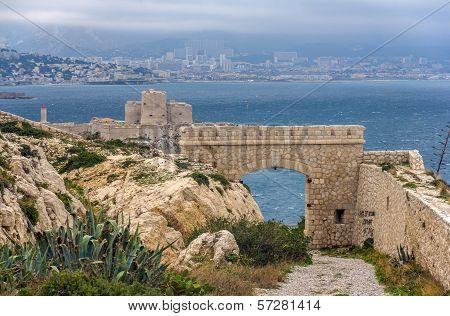Ancient Castle On Frioul Island Near Marseille, France