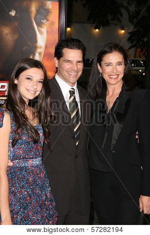 Mimi Rogers, Chris Ciaffa, Daughter Lucy at the