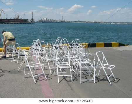 chairs are in port of Odessa