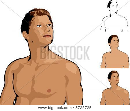 Attractive Man Illustration