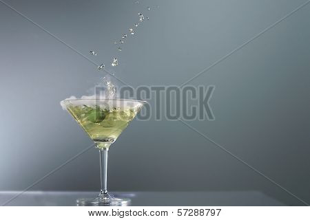 Smoking Martini Cocktail