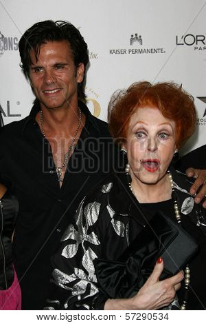 Lorenzo Lamas and Arlene Dah at thr Hollywood Walk of Fame's 50th Birthday Bash,  Kodak Theater Grand Ballroom, Hollywood, CA. 11-03-10