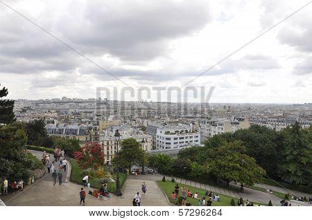 PARIS,FRANCE-AUGUST21-View of Paris from Sacre Coeur Basilica